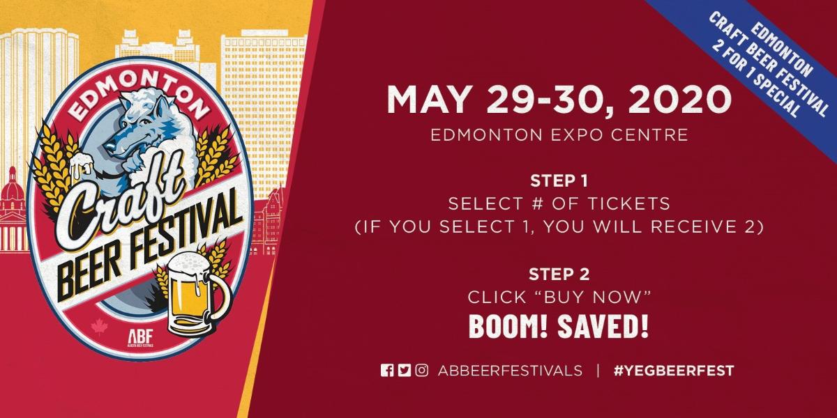 *2020 Edmonton Craft Beer Festivals Promotions*