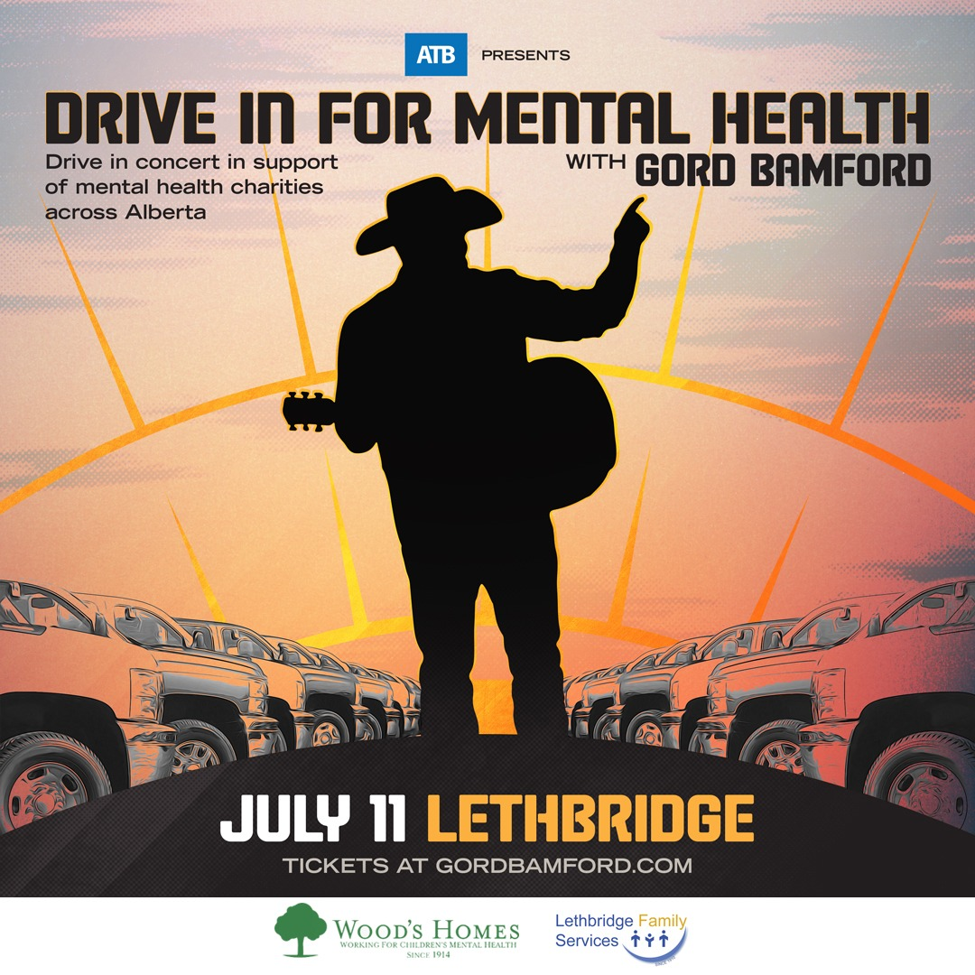 ATB presents: Drive In For Mental Health with Gord Bamford - Lethbridge