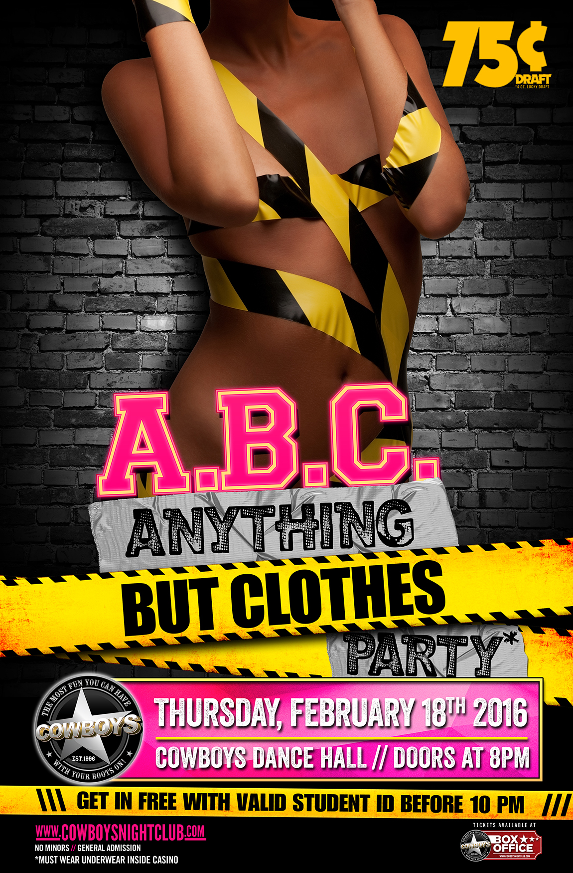 anything but clothes student night party cowboys dance hall
