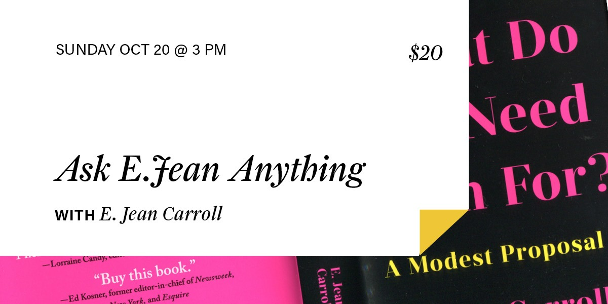 Ask E. Jean Anything